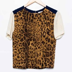 Sandro blouse size 1/xs